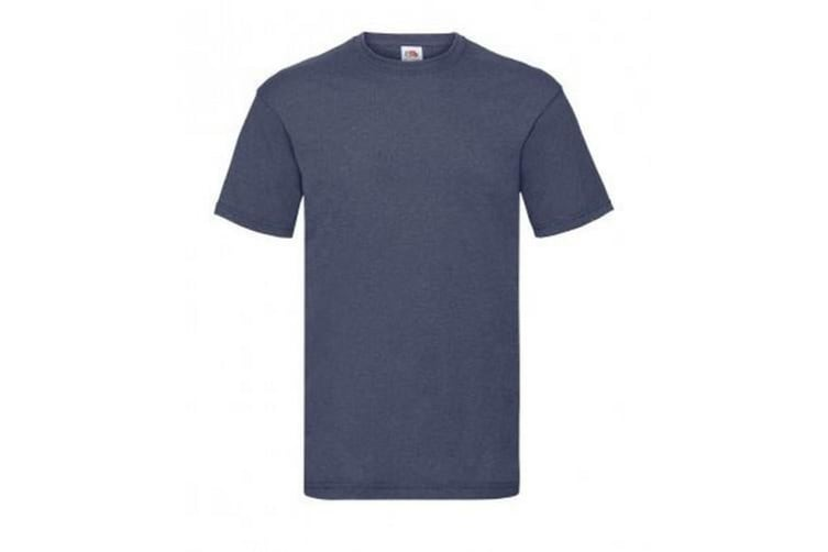Fruit Of The Loom Mens Valueweight Short Sleeve T-Shirt (Vintage Heather Navy) (M)