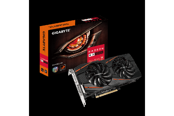 Gigabyte AMD Radeon RX580 Gaming 4GB DDR5 PCIe Video Card 8K 7680x4320 5xDisplays DVI HDM 3xDP 1365/1340 MHz RGB Windforce 2X CrossFire Eyefinity