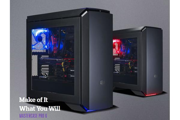 Coolermaster Mastercase Pro 6, RED LED fan and front bottom RED LED light, modular design, side window, discreet air vents