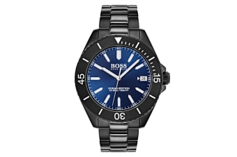 Hugo Boss Men's 43mm Ocean Edition Stainless Steel Watch - Black/Blue