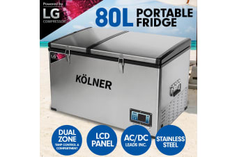 Kolner 80L Portable Fridge Cooler Freezer Camping with LG Compressor