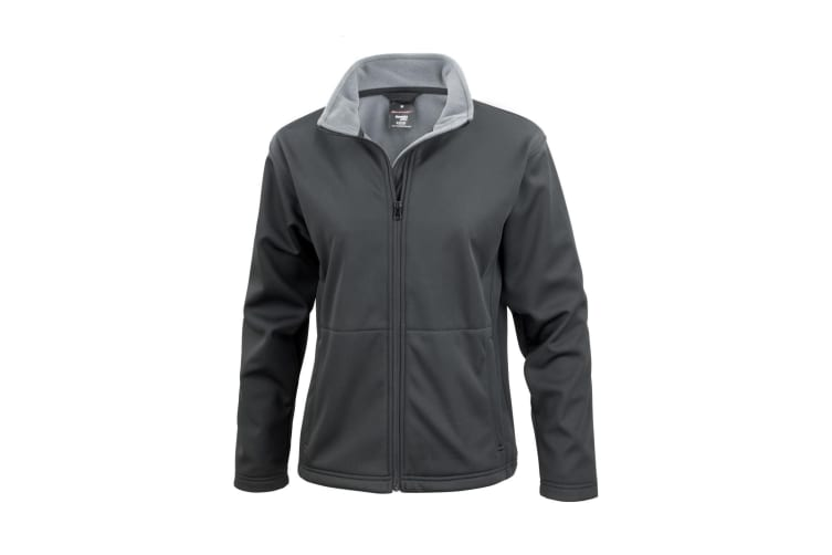 Result Core Ladies Soft Shell Jacket (Black) (XS)