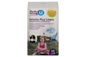 10pc BabyU Fragranced Disposable Liners for Potette Plus Toilet Training Seat
