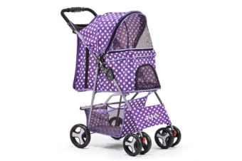 Pet 4 Wheel Pet Stroller Purple