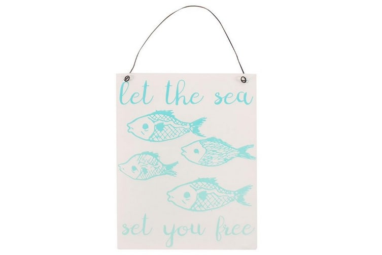 Something Different Let The Sea Metal Sign (Multicoloured) (One Size)
