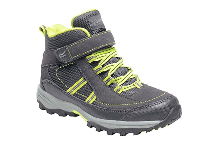 Regatta Great Outdoors Childrens/Kids Trailspace II Mid Walking Boots (Briar/Lime Punch) (UK Child 13)