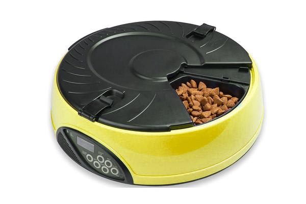 330Ml Per Meal Digital Lcd Automatic Pet Feeder Dog Cat Food Bowl Timer Yellow