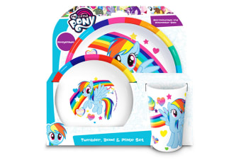 My Little Pony Official Childrens Girls 3 Piece Dinner Set (White) (One Size)