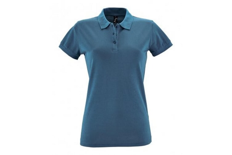 SOLS Womens/Ladies Perfect Pique Short Sleeve Polo Shirt (Slate Blue) (S)