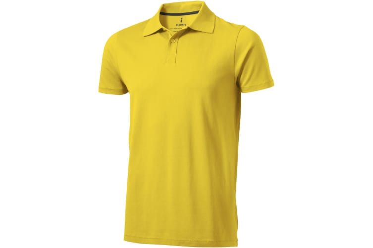 Elevate Mens Seller Short Sleeve Polo (Yellow) (XS)