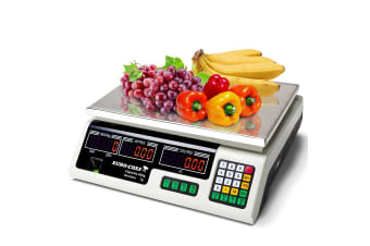 Kitchen Scale Digital Commercial Shop Electronic Weight Scales Food 40KG WT