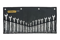 Stanley Ring & Open End Spanner Set (16 Pieces)
