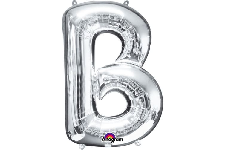 Anagram Mini Shape 16 Inch Silver Letter Balloon (Silver) (M)