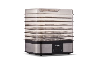 Devanti 7 Trays Food Dehydrators Fruit Beef Maker Dehydrator Stainless Steel