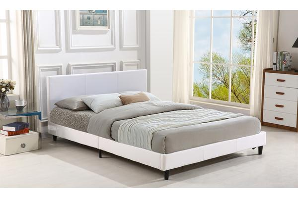 Gas Lift Storage Pu Leather Bed Frame White Single Kogan Com
