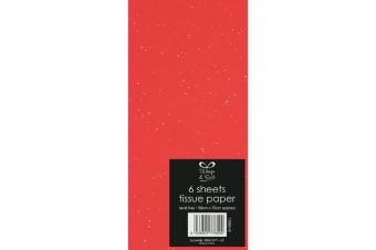 North Pole Glitter Tissue Paper (Red) (500 x 700mm)