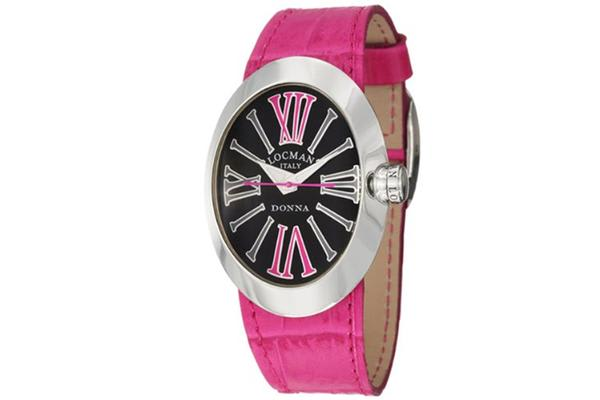 Women's Donna Quartz Black Dial Interchangeable Leather Straps (410BKFX)