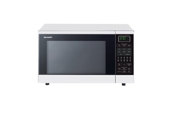 Sharp 900W Midsize Double Grill Convection Microwave Oven - White (R890NW)