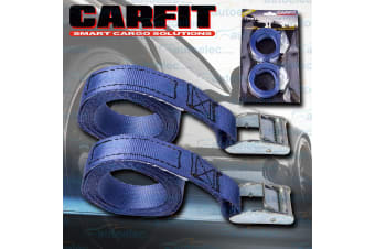 """2x 1.8 METRE 341KG CAMBUCKLE TIE DOWN STRAP STRAPS 25MM 1"""" PAIR ROOF RACK LUGGAGE"""