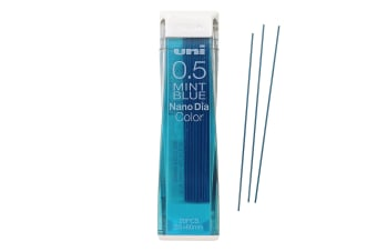 Uniball Nano Dia Mechanical COLOUR Pencil Lead Pack 0.5mm Mint Blue