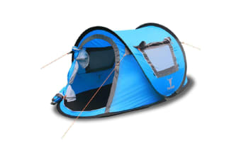 ONE TOUCH EASY SET UP POPUP POP UP INSTANT 2 PERSON TENT UV PROTECT AUTOMATIC BL