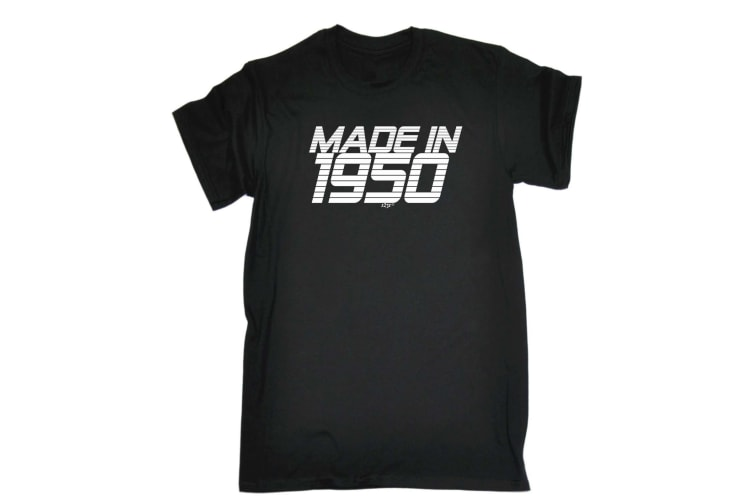 123T Funny Tee - 195 Fifty Fifties Made In - (Small Black Mens T Shirt)