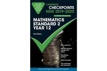 Cambridge Checkpoints NSW 2019-20 Mathematics Standard 2 and QuizMeMore