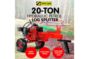 Ducar Petrol Log Splitter Wood Cutter - 20Ton