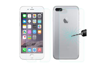 For iPhone 8 PLUS 7 PLUS Screen Protector Front Back Tempered Glass Cover