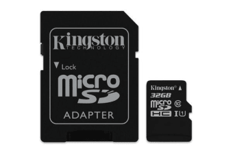 Kingston 32GB MicroSD SDHC SDXC Class10 UHS-I Memory Card 45MB/s Read 10MB/s Write with standard SD adaptor ~SDC10G2/32GBFR
