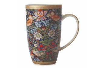 Maxwell & Williams Morris 420ml Porcelain Floral Coffee Tea Coupe Mug Cup Blue