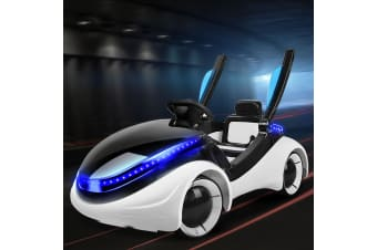 Kids Ride On Car Electric Toys Police Cars Remote Battery Lights