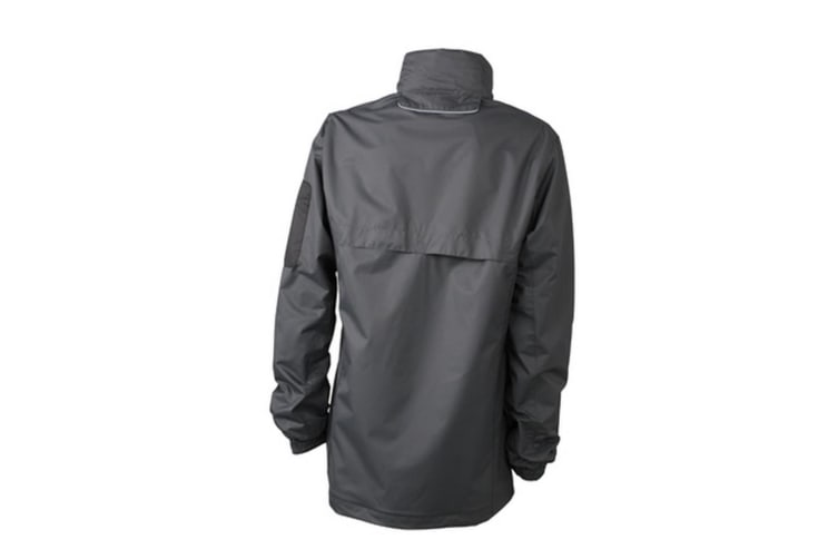 James and Nicholson Womens/Ladies Windbreaker (Black/Silver) (XXL)