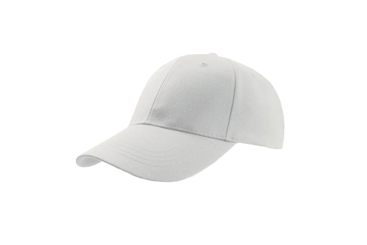 Atlantis Zoom Sports 6 Panel Baseball Cap (Pack of 2) (White) (One Size)