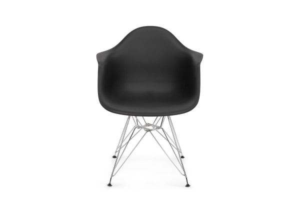 Shangri-La Set of 2 DAW Dining Armchairs - Eames Replica (Black)