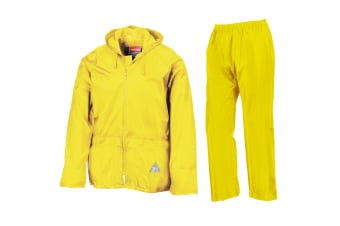 Result Mens Heavyweight Waterproof Rain Suit (Jacket & Trouser Suit) (Neon Yellow)