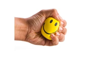 Happy Face Yellow Stress Ball