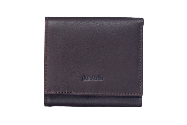 Pierre Cardin Mens Tri-fold Rfid Protected Wallet - Italian Leather - Brown