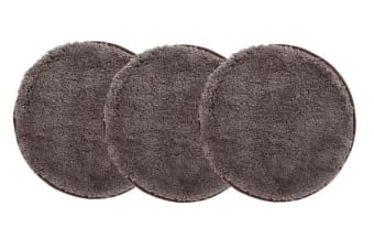 Pack of 3 Freckles Round Shag Rugs Dark Brown