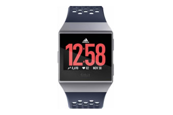 Fitbit Ionic Fitness Watch Adidas Edition - Blue Grey/White (S & L Bands)