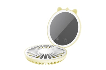 Led Lamp Usb Charging Beauty Mirror Colorful Ambient Lamp Neck Fan - Yellow Yellow 84X110X40Mm