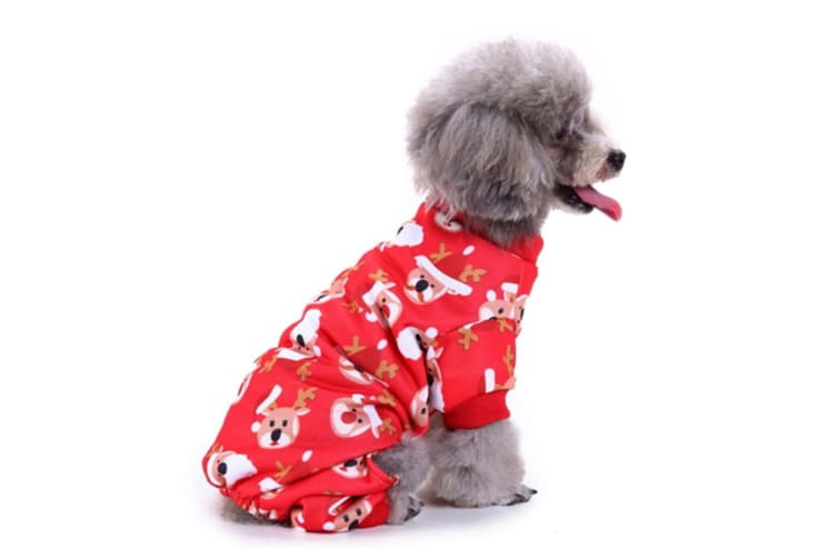 Christmas Dog Costumes.Dog Costumes Holiday Halloween Christmas Pet Clothes Soft Comfortable Dog Clothes L