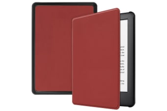 Smart Stand Case For Amazon All New Kindle 2019 10th Gen PU Leather Folio Cover-Winered