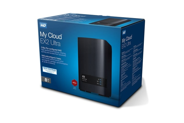 WD 0TB My Cloud EX2 Ultra 2-Bay Diskless NAS, RAID, Media Server (WDBVBZ0000NCH-SESN)