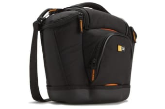 Case Logic Camera Bag with Shoulder Strap & Pockets - Black & Orange