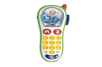 Chicco Kids Vibrating Phone w/Ringtones Music Interactive Buttons Mobile Toy 6m+