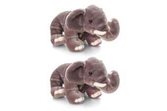 2PK Keel 30cm Elephant Zumba Baby/Toddler 12m+ Plush Stuffed Animal Toy Medium