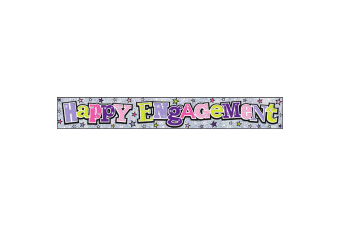 Simon Elvin Happy Engagement Foil Party Banner (Silver/Pink/Green/Purple)