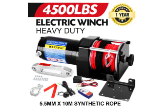 ATEM POWER Wireless 4500LB/2041kg 12V Electric Winch Synthetic Rope w/ Remote ATV 4WD Boat