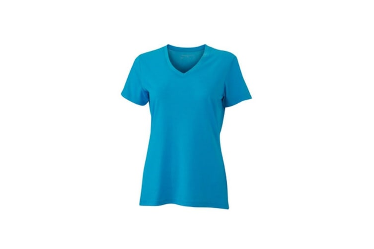 James and Nicholson Womens/Ladies Heather T-Shirt (Turquoise Melange) (S)